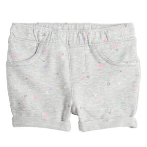 Baby Girls Size 18 Months Gray Shorts Heart Print